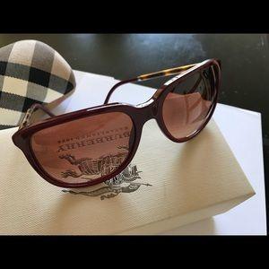 BURBERRY B4139 3317/13 Sunglasses Bordeaux Havana